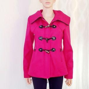 #1280 GUESS Pink Medium Pea Coat Fuschia Winter